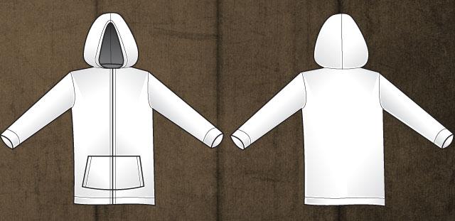 sweatshirt vector template. Vector Hoodie T-shirt Template