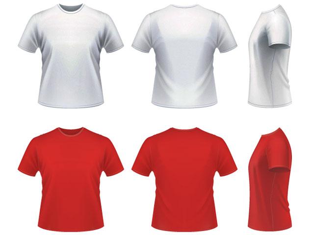 t shirt template vector. Vector realistic T-shirt