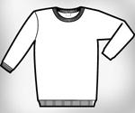 Sweat shirt template